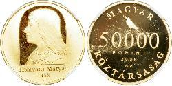 50000 Forint Hungary (1989 - ) Gold