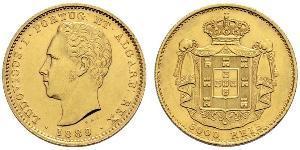 5000 Рейс Королівство Португалія (1139-1910) Золото Луіш I (1838 - 1889)
