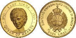 5000 Lira Malta Oro