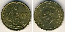 5000 Lira Türkei (1923 - )