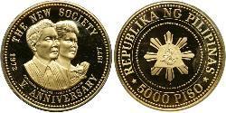 5000 Peso Filipinas Oro