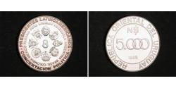 5000 Peso Uruguay Silber