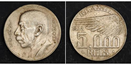 5000 Reis Brésil Argent