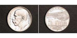 5000 Reis Brasile Argento