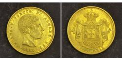 5000 Reis Kingdom of Portugal (1139-1910) Gold Peter V of Portugal (1837-1861)
