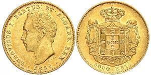 5000 Reis Kingdom of Portugal (1139-1910) Gold Ludwig I. (Portugal) (1838 - 1889)