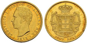 5000 Reis Kingdom of Portugal (1139-1910) Gold Luís I of Portugal (1838 - 1889)