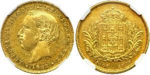 5000 Reis Royaume de Portugal (1139-1910) Or Louis Ier de Portugal (1838 - 1889)