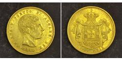 5000 Reis Reino de Portugal (1139-1910) Oro Peter V of Portugal (1837-1861)