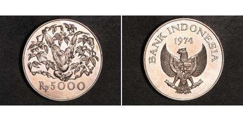 5000 Rupiah Indonesien Silber