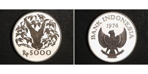 5000 Rupiah Indonesia Silver