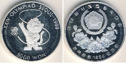 5000 Won South Korea Silver