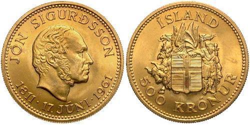 500 Крона Ісландія Золото