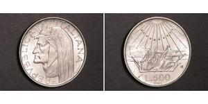 500 Лира Италия Серебро Данте Алигьери