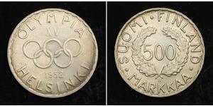 500 Марка Финляндия (1917 - ) Серебро