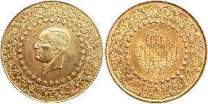 500 Піастр Турція (1923 - ) Золото Mustafa Kemal Atatürk (1881-1938)