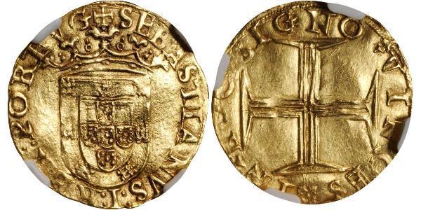 500 Рейс Королівство Португалія (1139-1910) / Португалія Золото Sebastian of Portugal (1554-1578)