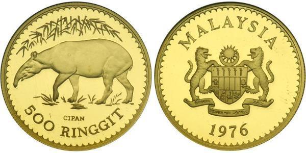 500 Ринггит Малайзия (1957 - ) Золото