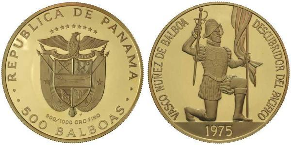 500 Balboa 巴拿马 金 瓦斯科·努涅斯·德·巴尔沃亚