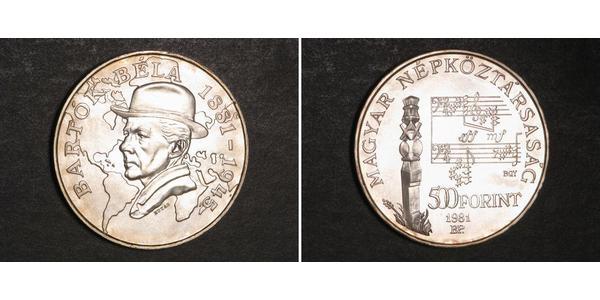 500 Forint 匈牙利 銀 巴托克·贝拉