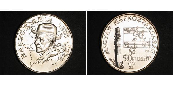 500 Forint Hongrie Argent Béla Bartók