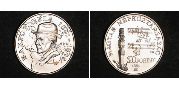 500 Forint Hungary Silver Béla Bartók