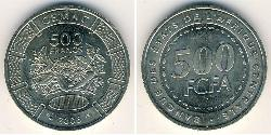 500 Franc Central African Republic Copper/Nickel
