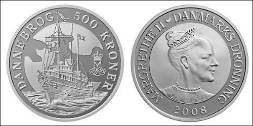 500 Krone Danimarca Argento