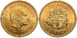 500 Krone Island Gold