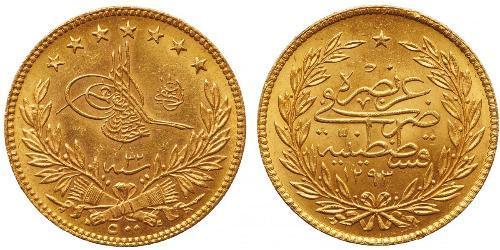 500 Kurush 奥斯曼帝国 (1299 - 1923) 金 阿卜杜勒-哈米德二世 (1842 - 1918)