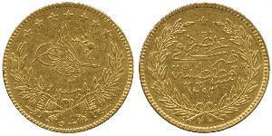 500 Kurush Ottoman Empire (1299-1923) Gold Abdul Hamid II (1842 - 1918)