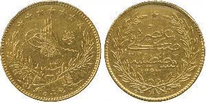 500 Kurush Impero ottomano (1299-1923) Oro Abdul-Hamid II (1842 - 1918)