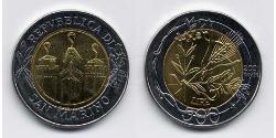 500 Lira San Marino Bimetal