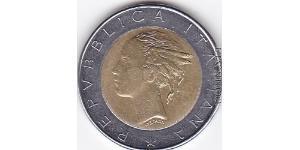 500 Lira Italien Bimetall