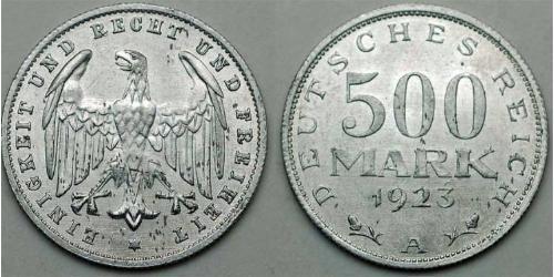 500 Mark Repubblica di Weimar (1918-1933) Alluminio