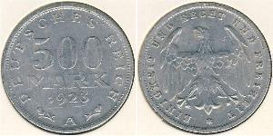 500 Mark Weimar Republic (1918-1933) Aluminium