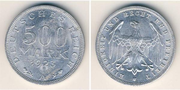 500 Mark Weimar Republic (1918-1933) Aluminium
