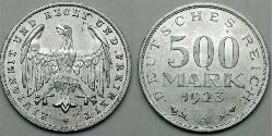 500 Mark Weimarer Republik (1918-1933) Aluminium