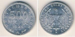 500 Mark Weimarer Republik (1918-1933) Aluminium
