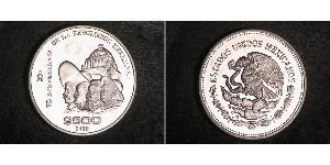 500 Peso Messico Argento