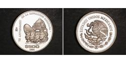 500 Peso Mexiko Silber