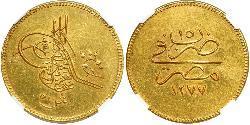 500 Piastre Khedivate of Egypt (1867 - 1914) Gold Abdülaziz of the Ottoman Empire (1830 - 1876)