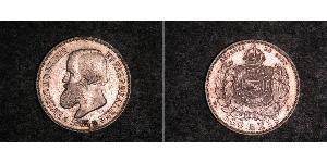 500 Reis Empire du Brésil (1822-1889) Argent Pierre II du Brésil (1825 - 1891)