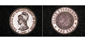 500 Reis Brasile Argento