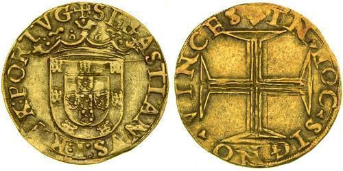 500 Reis Portogallo / Regno del Portogallo (1139-1910) Oro Sebastian of Portugal (1554-1578)