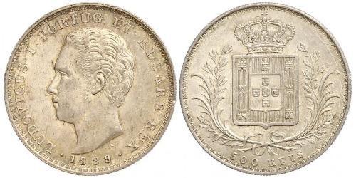 500 Reis Reino de Portugal (1139-1910) Plata