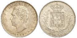 500 Reis Kingdom of Portugal (1139-1910) Silber