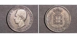 500 Reis Kingdom of Portugal (1139-1910) Silber