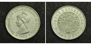 500 Reis Brazil Silver