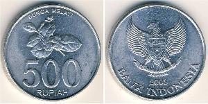 500 Rupia Indonesia Aluminio